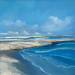 Beach Maffick ll 36x36 Oil on Canvas
