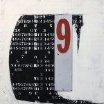 Hidden Number Series No.9 Mixed Media 36x36x2