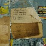 Receipt Series Tamales Mixed Media 7.5x7.5